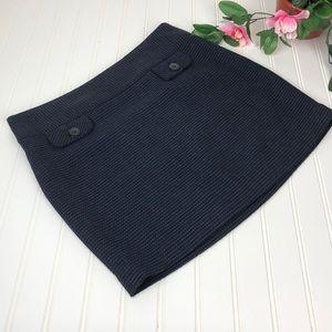 Gap Tweed Wool Blend Mini Skirt Sz 4
